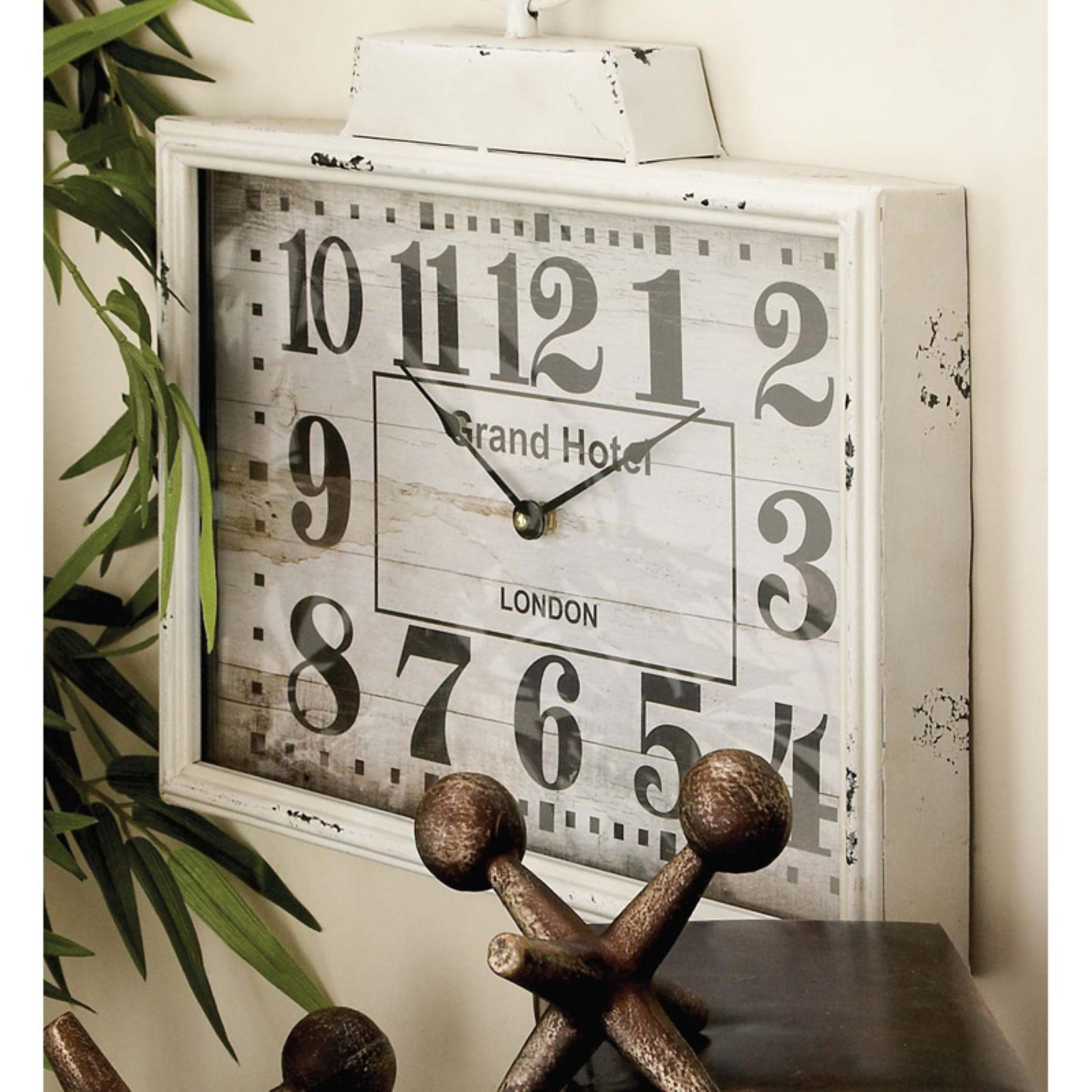 Decmode Metal Wall Clock, Multi Color