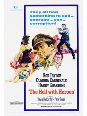 """The Hell With Heroes - movie POSTER (Style A) (11"""" x 17"""") (1968)"""