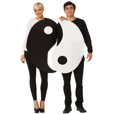 Homemade Couple Costume (Yin & Yang Couple Costume)