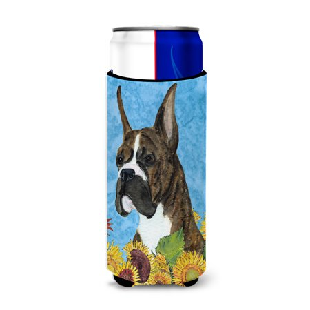Boxer in Summer Flowers Ultra Beverage Insulators for slim cans SS4141MUK