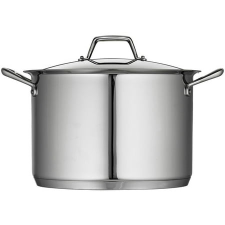 Tramontina Gourmet Prima 12-Quart Covered Stock Pot with Tri-Ply Base