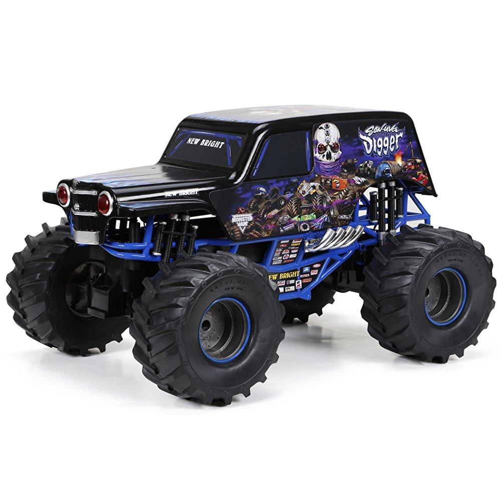New Bright R/C F/F Monster Jam Sonuva Digger includes 9.6...