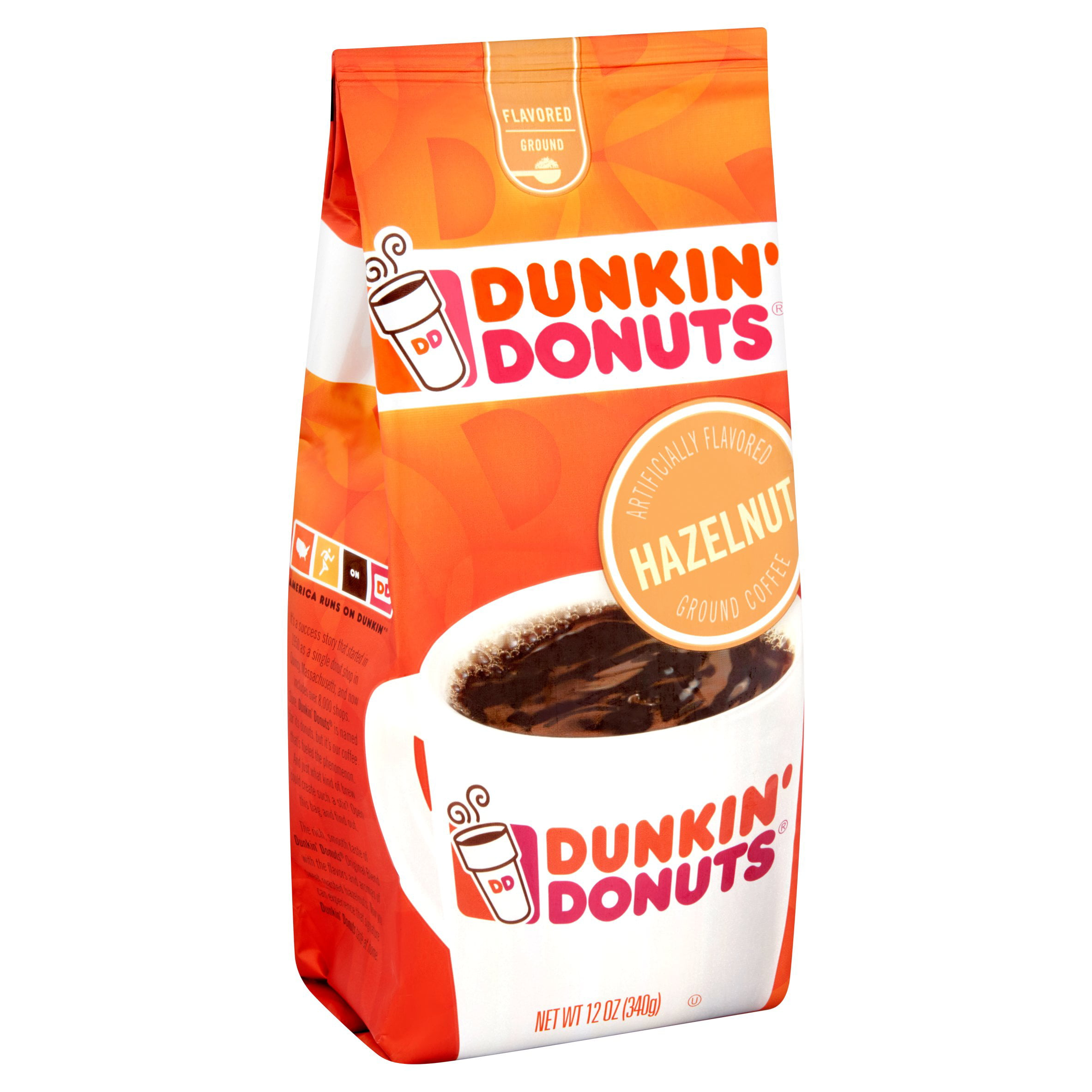 Dunkin' Ground Hazelnut Donuts Coffee 12 oz