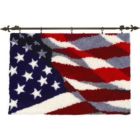 Herrschners® Waving Flag Latch Hook Kit 1 Latch Hook Rug Hooking