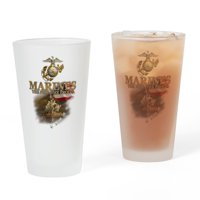 CafePress - USMC War Memorial: - Pint Glass, Drinking Glass, 16 oz. CafePress