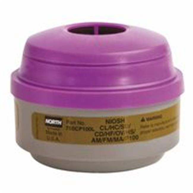 North Safety 068-75SCP100L Defender Multi-Purpose Cartridge, P100, Olive-Magenta
