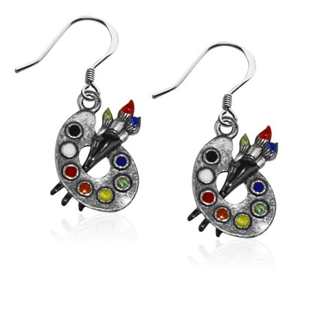Artist Palette Charm Earrings in - Sewing Machine Earrings