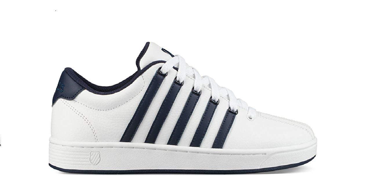 K-Swiss 03629-135: Men's White Navy White Court Pro II CMF Sneaker by K-Swiss