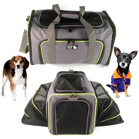 Pet Carrier for Dogs & Cats - Airline Approved Quality Expandable Soft Animal Carriers - Portable Soft-Sided Air Travel Bag - Best for Small or Medium Dog and Cat  Fits Under Front Airplane Seat