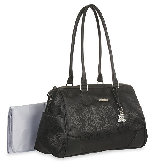 "Baby Boom ""Little Me"" Black Duffle Diaper Bag by Baby Boom"
