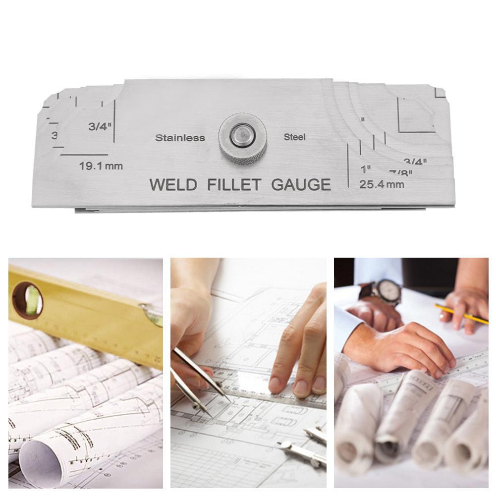 Shipbuilding Weld Measuring Inspection Test Ulnar Gage Fillet Welding Inspection Gauge Set Bridges Stainless Steel Gage Test Ulnar Welder Inspection for Testing of Boilers