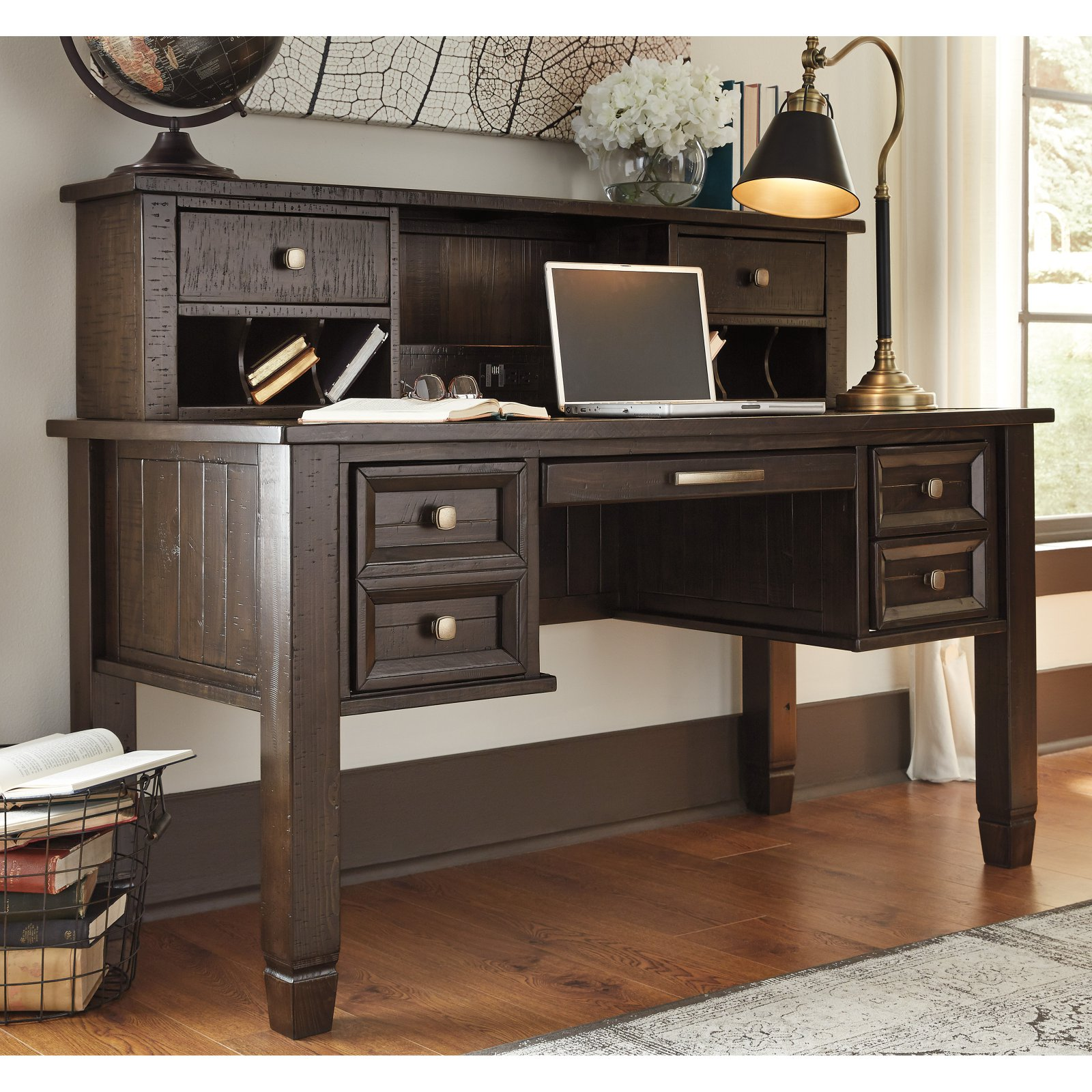Signature Design by Ashley Townser 60 in. Desk with Optional Hutch