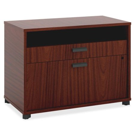Basyx By Hon Manage Series Chestnut Office Furniture Collection   30  Width X 16  Depth X 22  Height   2 X Pencil  File Drawer S    Chestnut  Laminate  Mg30fdc1a1