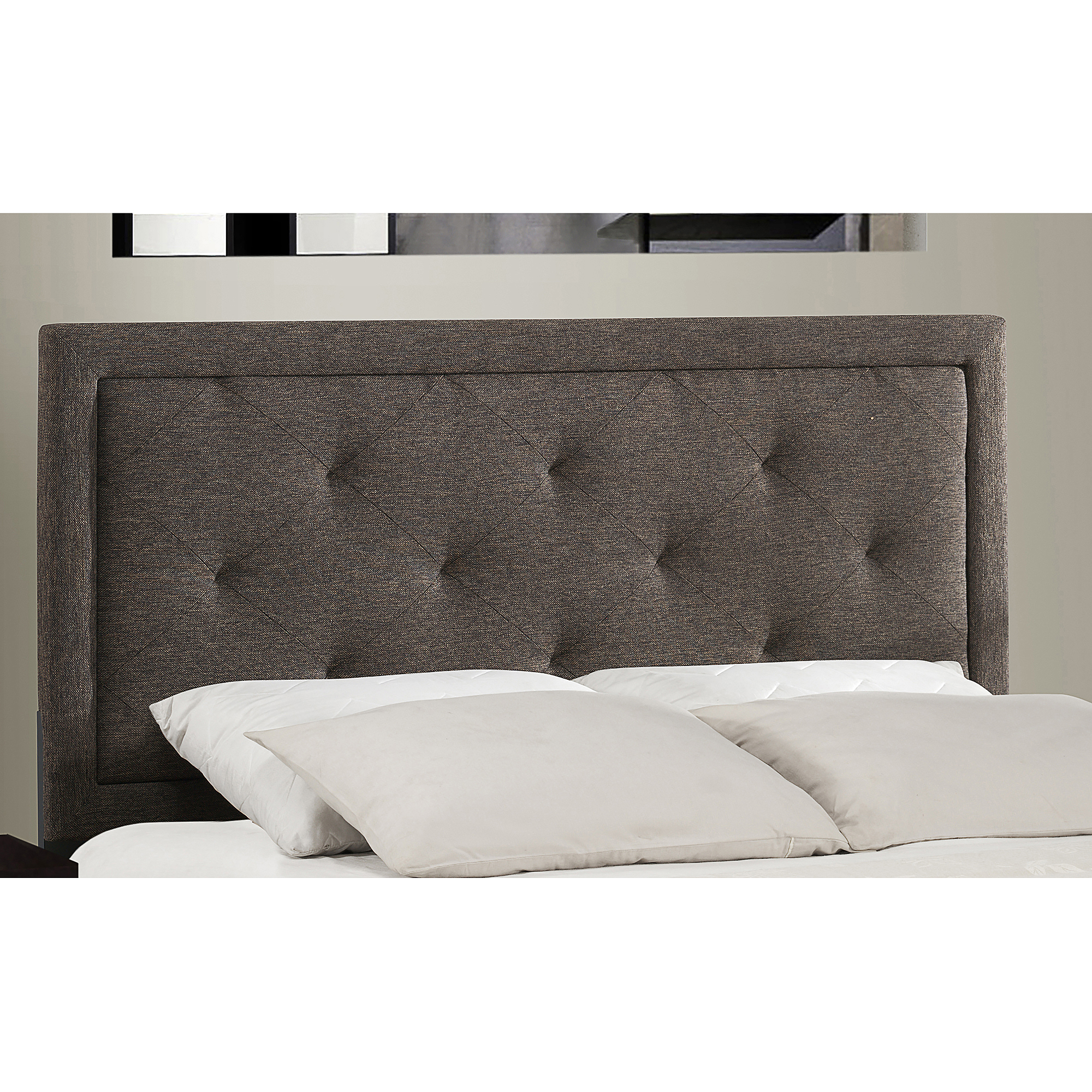 Hillsdale Furniture Becker Upholstered Headboard, Black/Brown