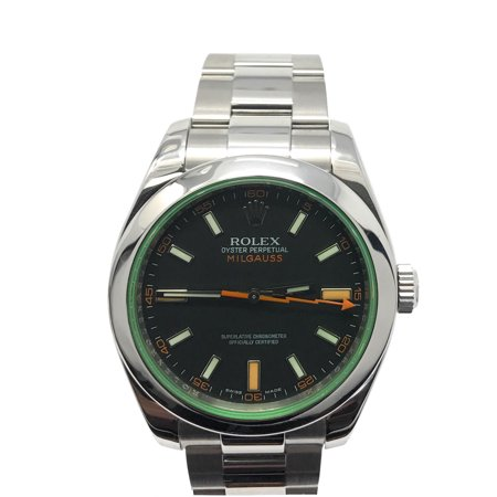 Rolex Milgauss 116400 Black Stick dial and Stainless Steel Smooth Bezel (Certified Pre-Owned)