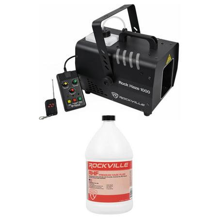 Dmx Haze Machine - Rockville ROCKHAZE 1000 CFM DMX Water Based DJ/Club Haze Machine+Gallon Fluid
