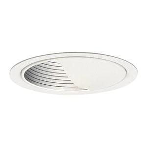 - Lightolier 1085 5 Inch Basic Wall Wash Reflector Trim Round Gloss White Lytecaster