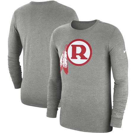 finest selection 531f6 79867 Washington Redskins Nike Fan Gear Crackle Historic Tri-Blend Long Sleeve  T-Shirt - Heathered Gray