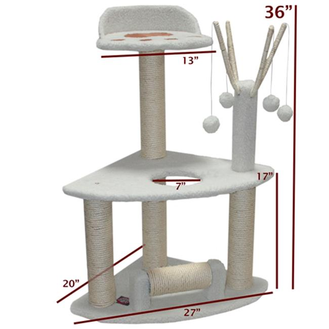 Majestic Pet Products 788995780557 36 inch Bungalow Cat Tree - Sherpa