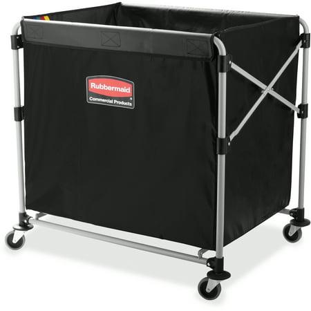 - Rubbermaid Commercial, RCP1881750, 8-Bushel Collapsible X-Cart, 1 Each, Black