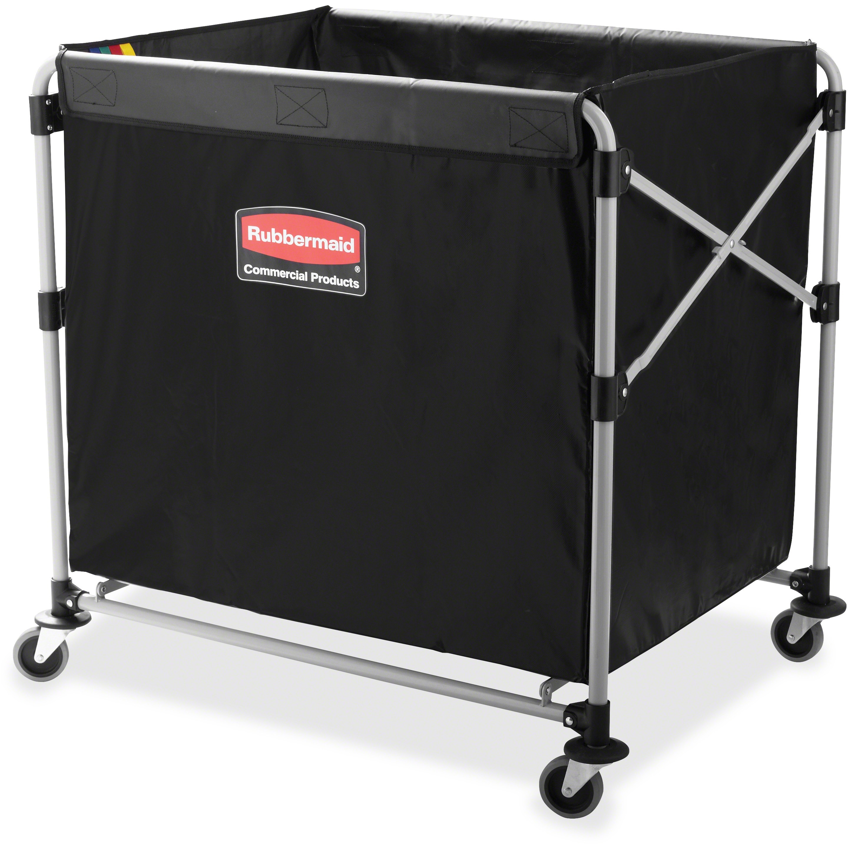 Rubbermaid Commercial, RCP1881750, 8-Bushel Collapsible X-Cart, 1 Each, Black