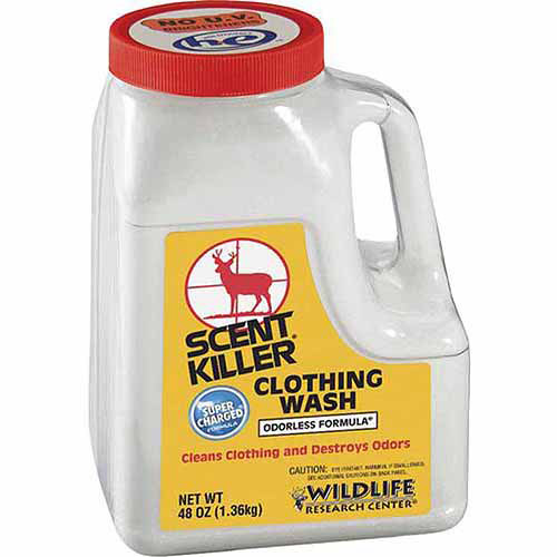 WILDLIFE RESEARCH SCENT POWDER CLOTHING WASH ELIMINATES ODORS 44OZ