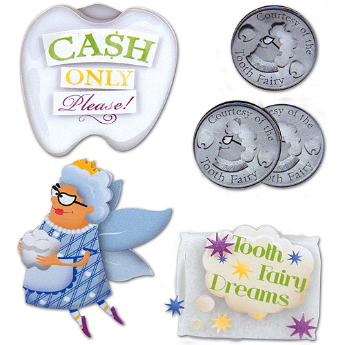Tooth Fairy Stacked Stickers, 5pk