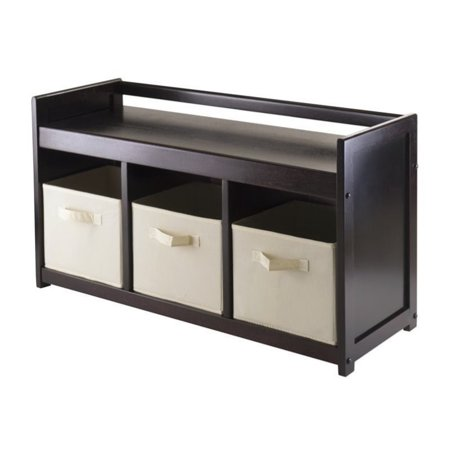 Wondrous Pemberly Row 4Pc Storage Bench With 3 Baskets In Espresso Caraccident5 Cool Chair Designs And Ideas Caraccident5Info