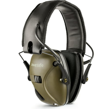 awesafe Electronic Shooting Earmuffs, Comfortable Protein Ear pad Hearing Protection with Sound Amplification and Suppression thumbnail