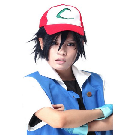e49114473f5 Xcoser - Pokemon Cosplay Ash Ketchum Hat Baseball Cap Adjustable Red White Costume  Accessories Xcoser - Walmart.com