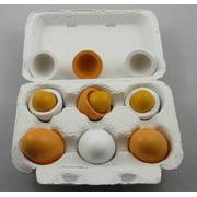 StillCool 6pcs Wooden Easter Eggs Yolk Pretend Children Play Kitchen Game Food Kids Toy