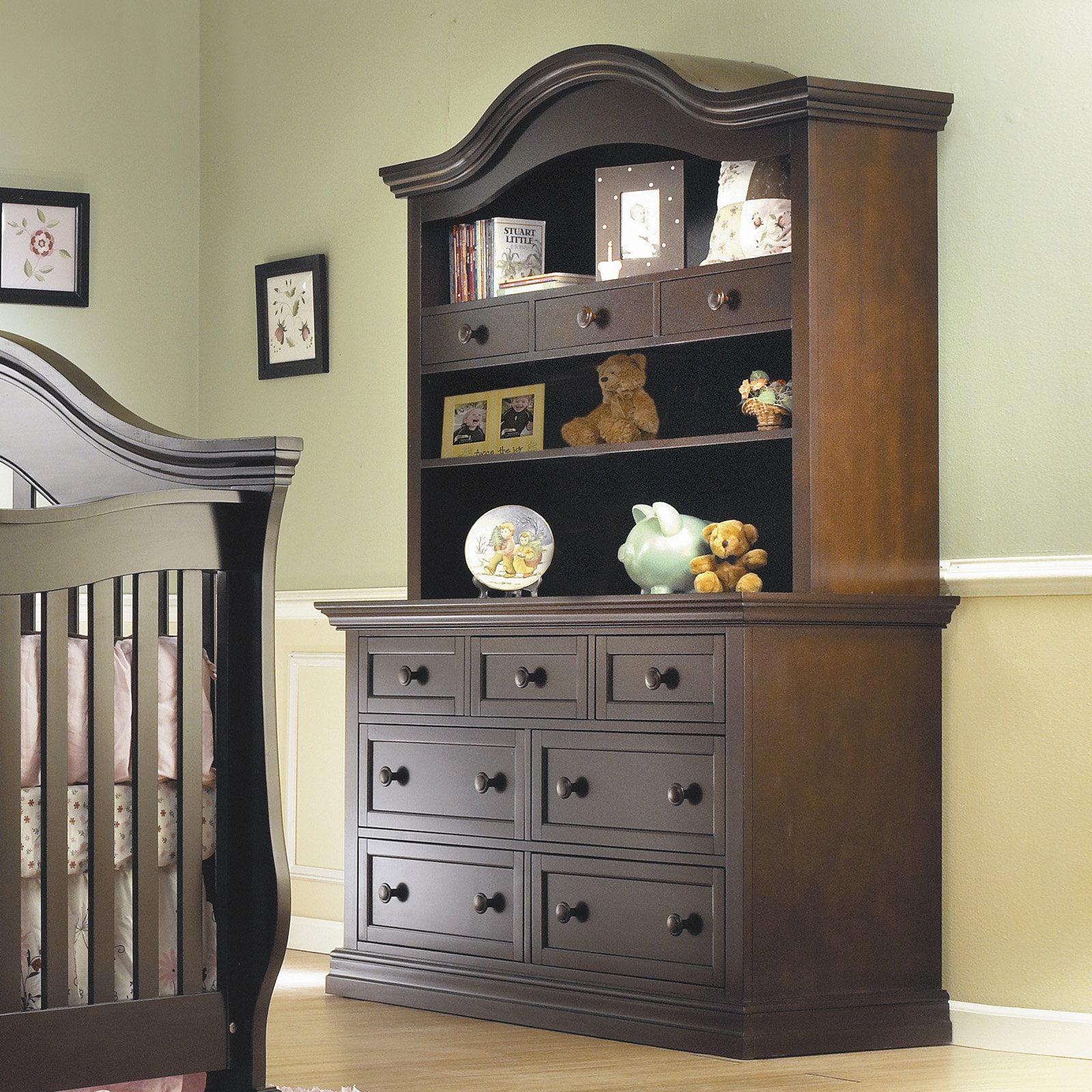Lusso Nursery Century Double Dresser with Hutch by Lusso Nursery