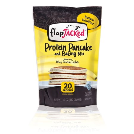 Flapjacked Protein Pancake Mix, Banana Hazelnut, 12 Oz ()
