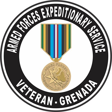 Armed Forces Expeditionary Medal Grenada Decal 3.8 Inch Decal