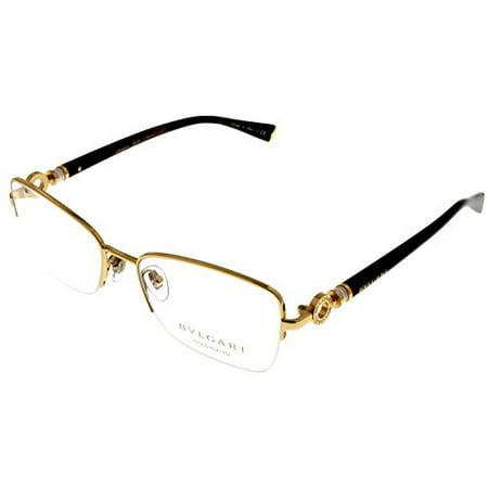 dc7d60b26c Bvlgari LeGemme Gold Plated Prescription Eyeglasses Frame Women Semi Rimless  BV2161K 393 Size  Lens  Bridge  Temple  53-17-135 - Walmart.com