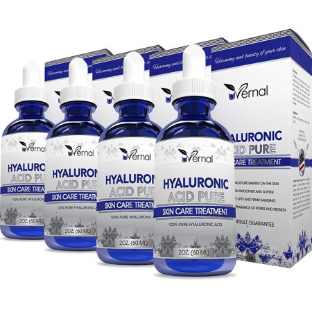 4 Pack Hyaluronic Acid for Skin - 100% Pure Medical Quality Clinical Strength Formula - Anti-Aging (Quality Skin)