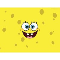 Spongebob Square Pants 1/2 Size Sheet Cake Topper Edible Frosting Image