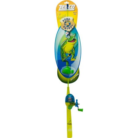 Zebco pond patrol kids floating combo freddy the frog for Kids fishing poles walmart