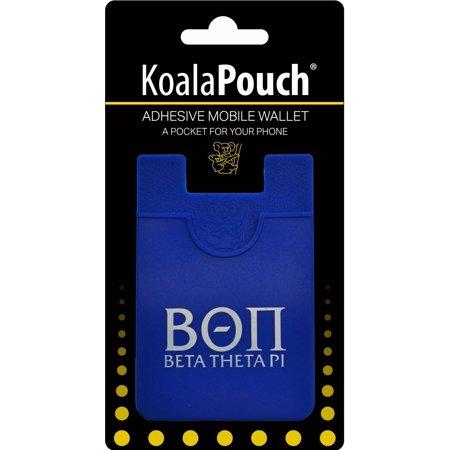 Beta Theta Pi - Koala Pouch - Adhesive cell phone wallet Beta Theta Pi Glass