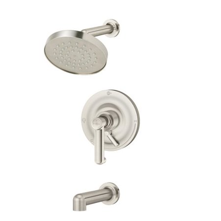 Faucet Single Handle Diverter - Museo Single Handle Tub and Shower Faucet with Integral Diverter in Satin Nickel