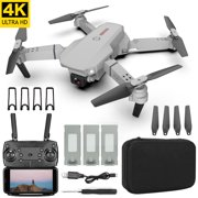 Drone with 4K Camera for Adults FPV 120° Wide-Angle WiFi RC Quadcopter  ( 3 Batteries ) Long Flight Time Helicopters Auto Hover Trajectory Flight