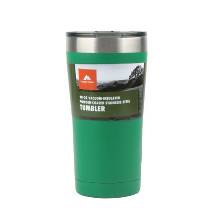 Ozark Trail 20-Ounce Double-wall, Vacuum-sealed Stainless Steel Tumbler, Green (Thermos Tea Tumbler)