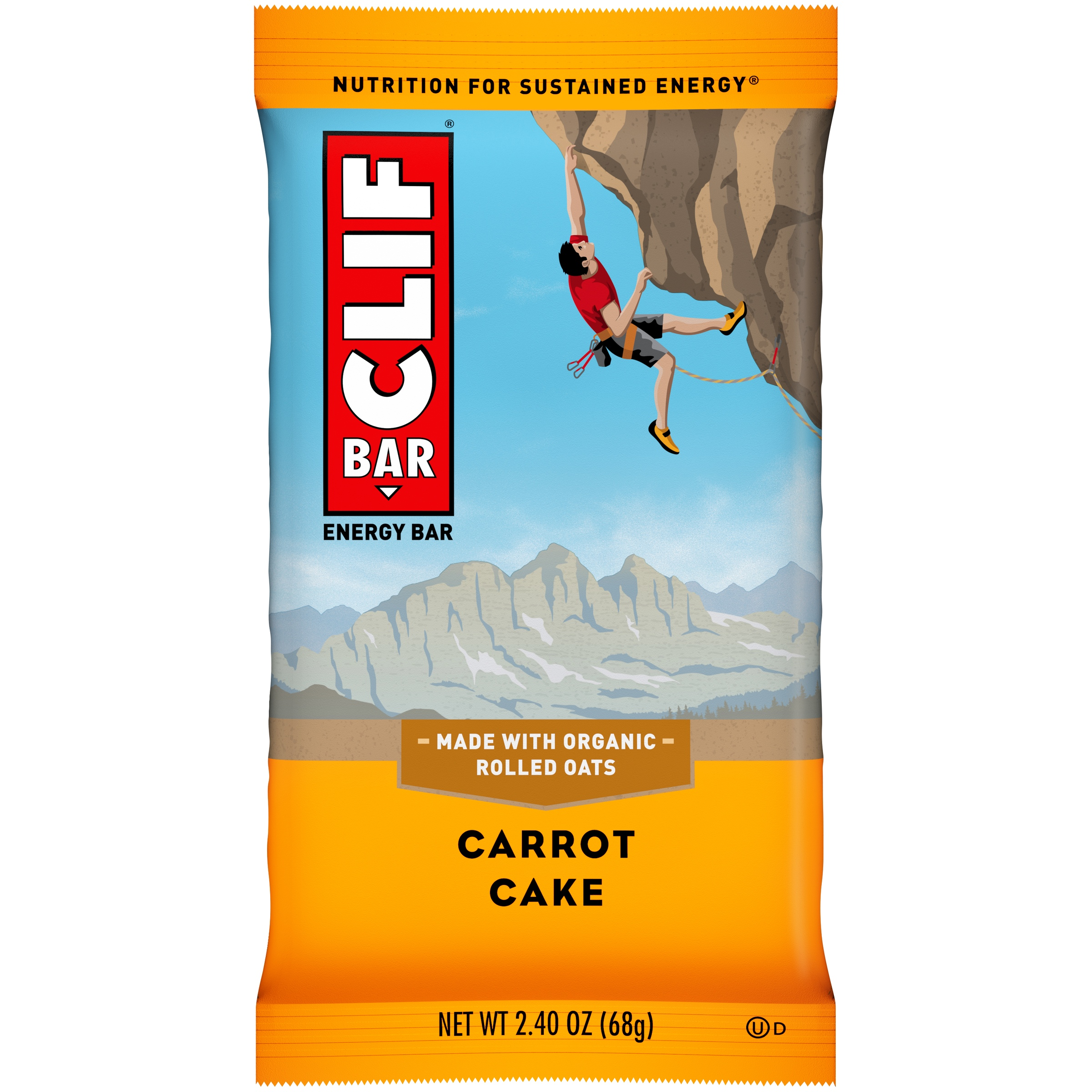 Clif Bar® Carrot Cake Energy Bar 2.4 oz. Wrapper