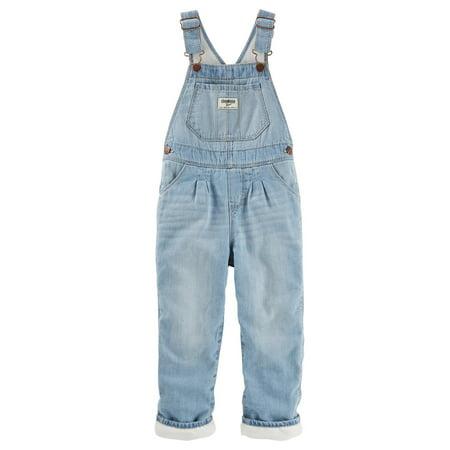 - OshKosh B'gosh Baby Girls' Fleece-Lined Overalls - Feather Cream Wash, 6 Months