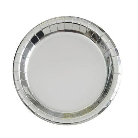 Paper Plates, 9 in, Silver Foil, 8ct - Walmart.com