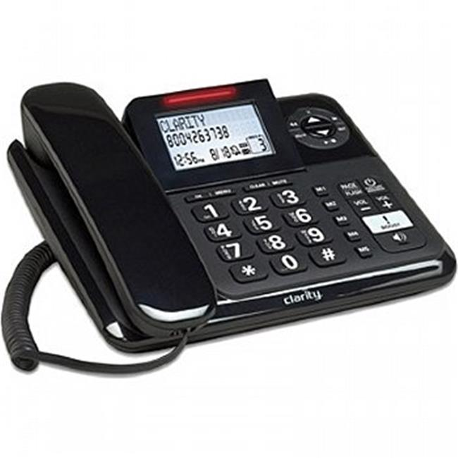 Clarity 53730-000 E814 Amplified Corded Phone with Digital Answering Machine