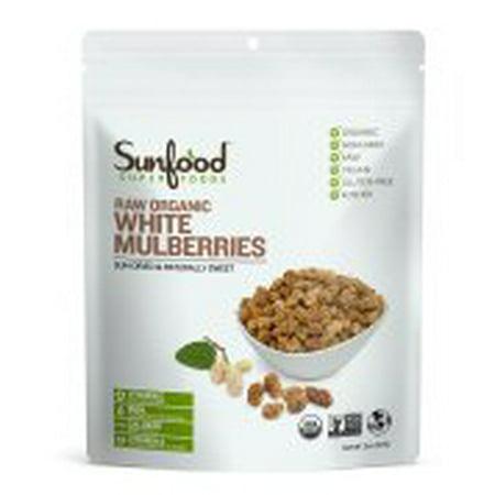 Sunfood Superfoods Organic White Mulberries, 8.0 Oz