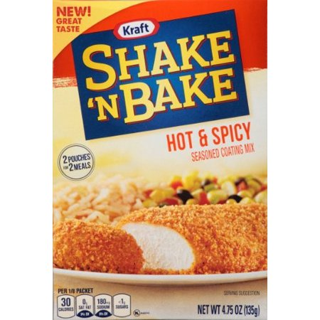 Kraft Shake 'N Bake Seasoned Coating Mix Hot & Spicy, 4.75 OZ