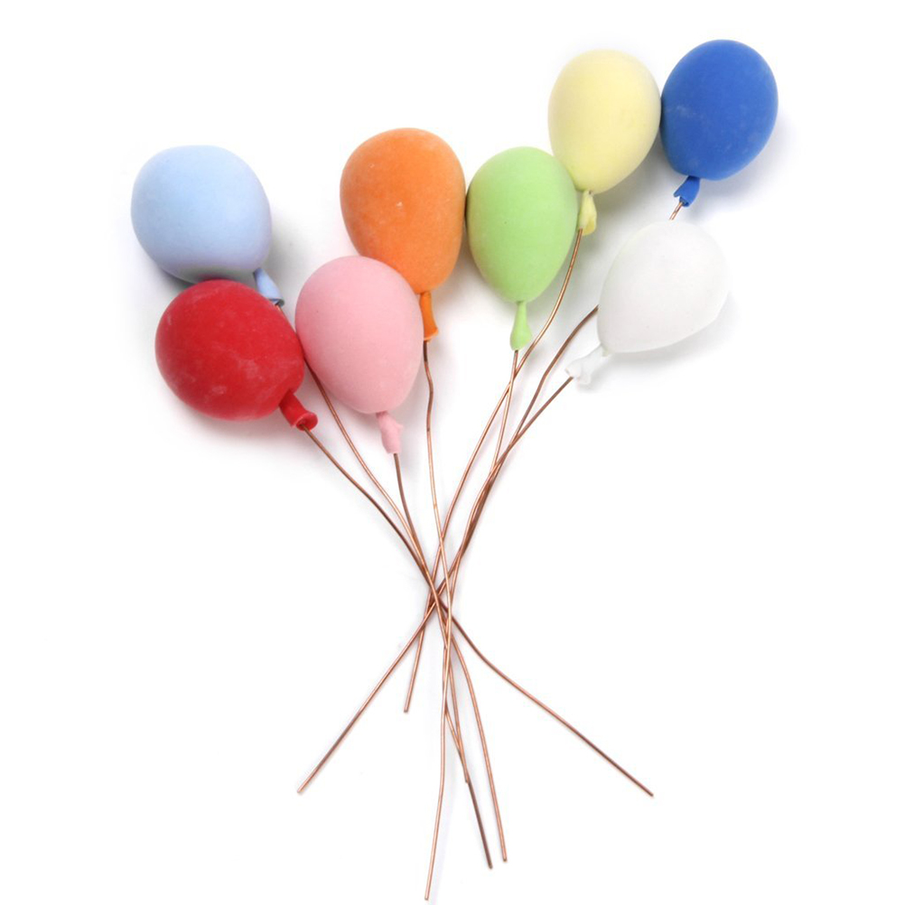 8Pcs Miniature Balloons For 1:12 Dollhouse Decoration Kids Birthday Kids Gifts