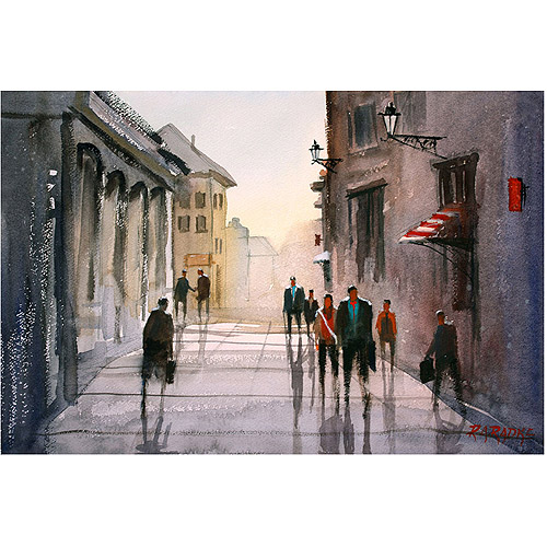 "Trademark Art ""A Stroll in Italy"" Canvas Art by Ryan Radke"